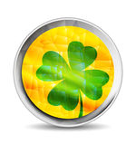 Clover geometric polygonal style icon Royalty Free Stock Image