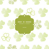 Clover geometric textile textured frame seamless Royalty Free Stock Photography
