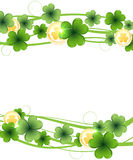 Clover and gold coins Stock Images