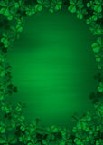 Clover on Green. Abstract background Stock Photography