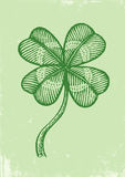 Clover on a green paper Stock Photo