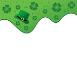 Clover Header. St. Patrick's Day themed header. Lots of copy space royalty free illustration