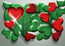 Clover - heart. Leaves, leaf clover, on a white background, good luck, the heart of shamrock Royalty Free Illustration