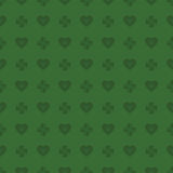 Clover and heart pattern Stock Image
