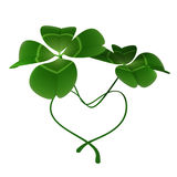 Clover Hearts. This graphic is a Lucky items Royalty Free Stock Photos