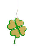 Clover on the hook Stock Photography