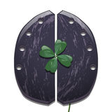 Clover and horseshoe for cows Royalty Free Stock Photography