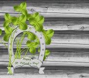 Clover and horseshoe Royalty Free Stock Image