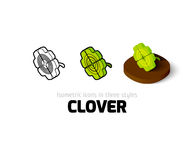 Clover icon in different style Stock Images