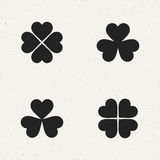 Clover Vector Icon Set Stock Photo