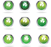 Clover icons Stock Photo