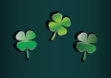 Clover icons Royalty Free Stock Images