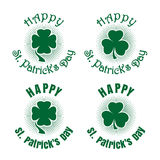 Clover icons set. Celebration symbol for St. Patricks Day Royalty Free Stock Photo