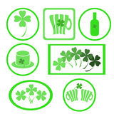 clover labels Royalty Free Stock Photography