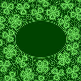 Clover lace frame. Royalty Free Stock Images
