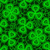 Clover. Lace. Seamless pattern. Royalty Free Stock Photo