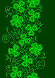 Clover Lace. Vertical Seamless. Stock Photo