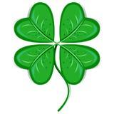 Clover Leaf. Illustration of Four-Leaf Clover Bringing Luck Royalty Free Stock Photos
