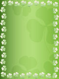 Clover leaf background. Clover leaf bordered background green gradient royalty free illustration