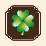 Clover leaf design Royalty Free Stock Photos