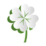 Clover leaf ecology icon Royalty Free Stock Image