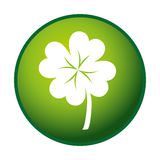 Clover leaf ecology icon Royalty Free Stock Photo