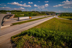 Clover leaf exit ramps on highway Royalty Free Stock Photos
