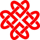 Clover leaf. Four connected hearts or clover leaf - celtic ornament Royalty Free Stock Photos