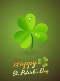 Clover Leaf Greeting Card. Conceptual Creative Design Art of Clover Leaf Greeting Card Royalty Free Stock Images