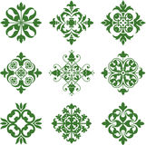 Clover Leaf Icons Stock Images