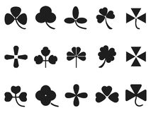 Clover leaf icons set Stock Photo