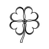 Clover leaf isolated icon Royalty Free Stock Photos