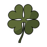 Clover leaf isolated icon Royalty Free Stock Images