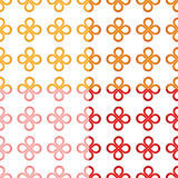 Clover leaf (good luck) knot seamless pattern Stock Photos