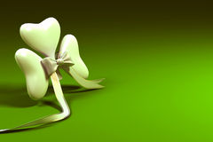 Clover Leaf on Saint Patrick Card Royalty Free Stock Images