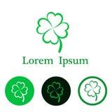 Clover leaf for you logo Lorem Ipsum, stock vector illustration. Eps 10 royalty free illustration