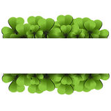 Clover leafs banner Stock Image