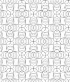 Clover leafs, black and white abstract  seamless pattern. Royalty Free Stock Photos