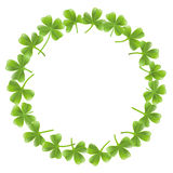 Clover leafs frame Royalty Free Stock Image