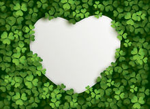 Clover leaves background with blank card Royalty Free Stock Photography