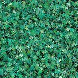 Clover leaves background for Saint Patrick Day. Green clovers wi. Th volume effect Stock Photos