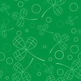 Clover leaves background. St. Patricks day . Seamless pattern. Vector Stock Image