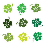 Clover leaves colorfull icon set. Stock Photography