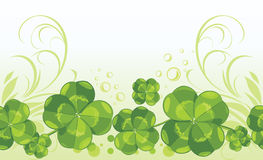 Clover leaves. Decorative seamless background royalty free stock photography