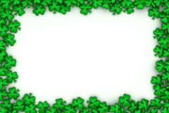 Clover leaves Frame Royalty Free Stock Photography