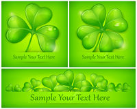 Clover leaves on green Royalty Free Stock Photos