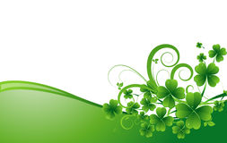 Clover Leaves Holiday Background Stock Photography