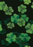 Clover leaves seamless pattern Stock Photos