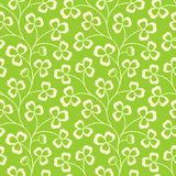 Clover leaves seamless vector pattern. St. Patrick`s Day green background. Shamrock wallpaper Royalty Free Stock Photo