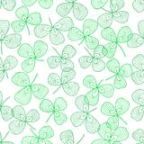 Clover leaves. Vector seamless pattern with clover leaves Stock Images